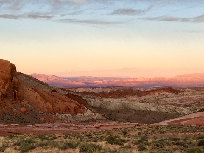 Colorful Valley of Fire at sunset
