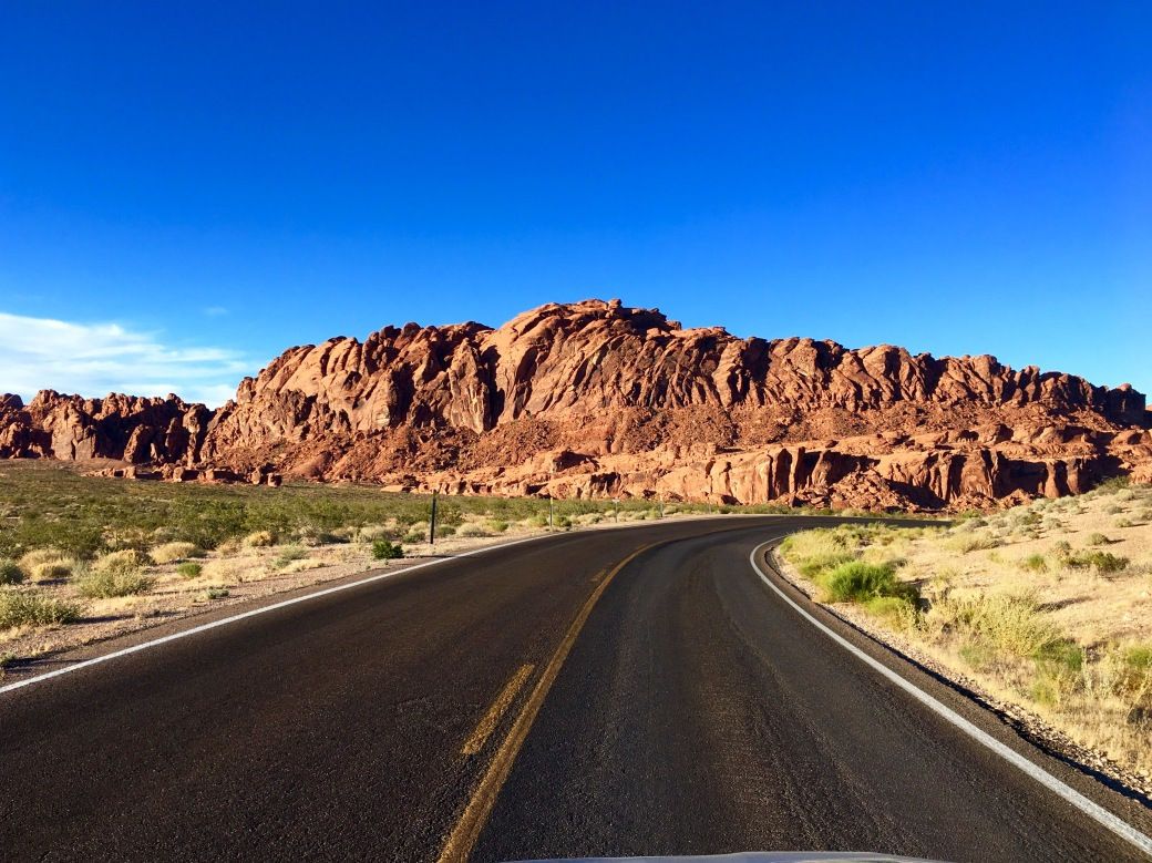 Red rock formations in Valley of Fire