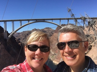 Selfie on the deck of Hoover Dam