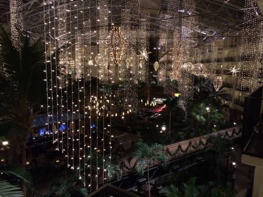 Christmas lights were beautiful at night
