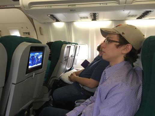 Our Aer Lingus flight had entertainment