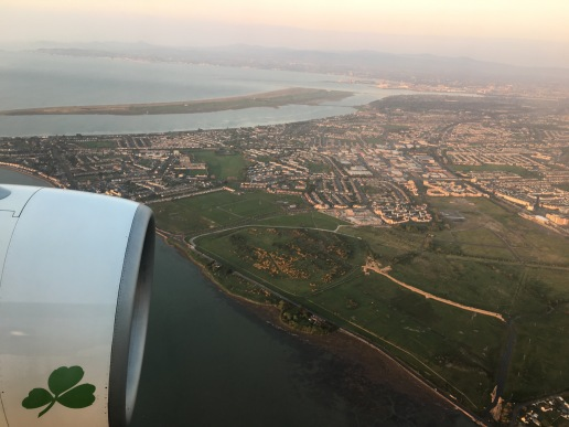 Flying into Dublin